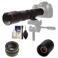Vivitar 500mm f/8.0 Telephoto Lens with 2x Teleconverter (=1000mm) + Accessory Kit for Sony Alpha A7, A7R, A7S, A3000, A5000, A6000, NEX-5T, 6, 7 Cameras