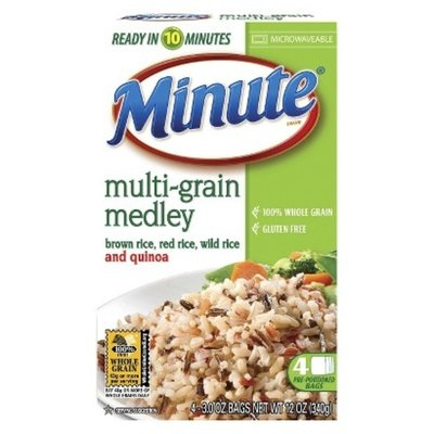 Minute Rice Minute Multi-Grain Medley Microwaveable Rice Bags 4 ct
