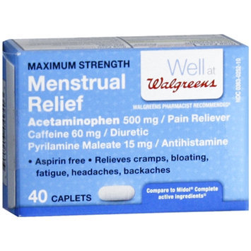 Walgreens Menstrual Relief Caplets