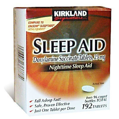 Kirkland Signature Sleep Aid Doxylamine Succinate 25 Mg, 192-Count