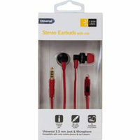 CL-Wired Earbud Red/Blk CL-STHD-401