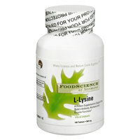 FoodScience of Vermont L-Lysine 500 mg Dietary Supplement Tablets