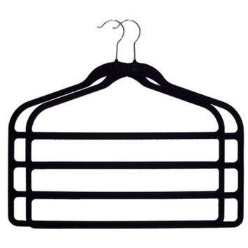 Joy Mangano 2-pc. Huggable Hangers 4 Bar Hangers - Black