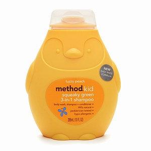 method kid squeaky green 3 in 1 shampoo