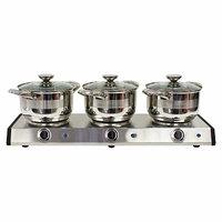 Nostalgia Electrics TDO250SS 2.5-Quart Slow Cooker Trio