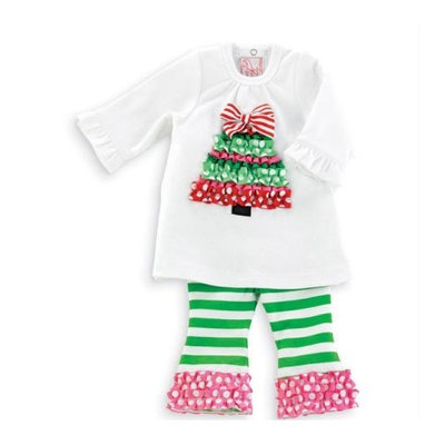 Ruffle Tree Tunic And Leggings Set by Mud Pie 0-6 Months