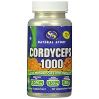 Natural Sport Cordyceps Capsules, Extreme, 625 Mg, 60 Count