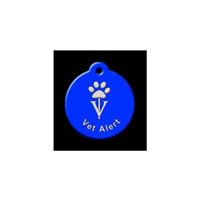 QR Code Pet ID Tag 01-VA-ST-RB Vet Alert Royal Blue Dog Tag