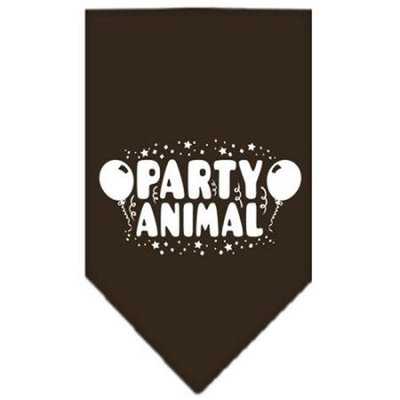 Ahi Party Animal Screen Print Bandana Cocoa Large