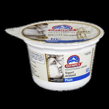Olympus 10% Fat Plain Yogurt Strained