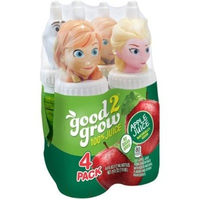 Good2Grow 100% Apple Juice, 6 fl oz, 4 count