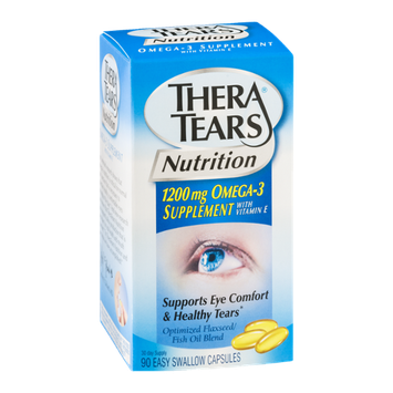 Thera Tears Nutrition Omega-3 Supplement Easy Swallow Capsules - 90 CT