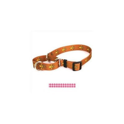Yellow Dog Design M-GNP101S Gingham Pink Martingale Collar - Small