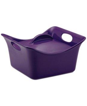 Rachael Ray Stoneware Purple 3.5-qt. Covered Square Casserole