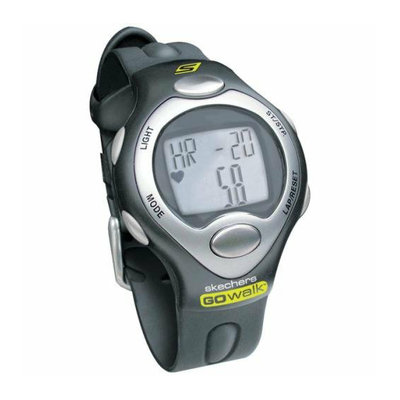 SKECHERS GO WALK SK1 Classic Strapless Heart Rate Monitor with Calorie Counter Mens PK Black