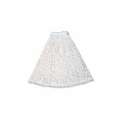 Rubbermaid Commercial Products 24 Oz Economy Wet Rayon Mop Heads with 1'' White Headband and Cut-End