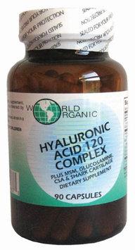 World Organic Hyaluronic Acid 120 Complex - 90 Capsules
