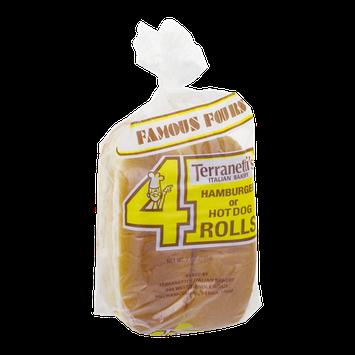 Terranetti's Italian Bakery Hamburger or Hot Dog Rolls - 4 CT