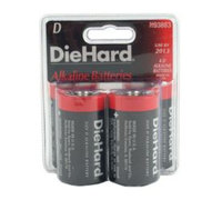 Eveready Battery Company DieHard D Alkaline Batteries, 4pk - EVEREADY BATTERY COMPANY