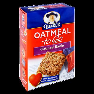 Quaker® Oatmeal To Go Oatmeal Raisin Breakfast Bars