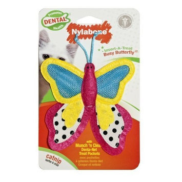 Nylabone Cat Dental Insert-A-Treat Busy Butterfly Treat Holder