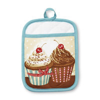 Franco Manufacturing Essential Home Pot Holder Mitt - Cupcake