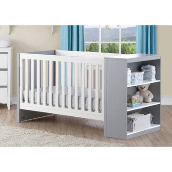 Dorel Asia Baby Relax Ayla 2-in-1 Convertible Fixed-Side Crib with Storage, Multiple Colors