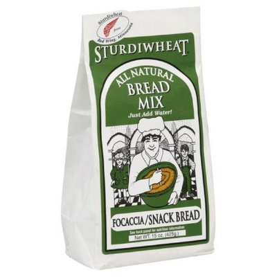 Sturdiwheat Focaccia Bread Mix, 15-Ounce (Pack of 4)