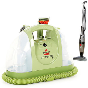 Bissell Little Green Portable Deep Cleaner with Your Choice of Bonus Stick Vac