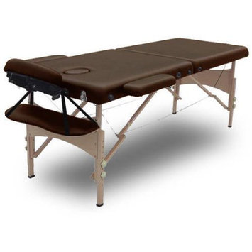 Modern Home Serenity Deluxe Portable Folding Massage Table w/5 Bonus Items - Chocolate Brown