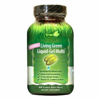 Irwin Naturals Women's Living Green Liquid-Gel Multi Soft-Gels