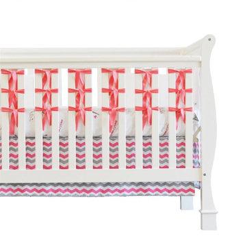 Oliver B Ventilated Slat Bumper 20-Pack White Base - Pink