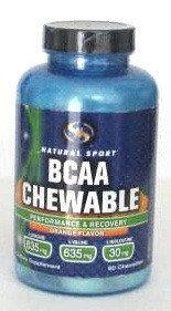 BCAA Orange Natural Sport 60 Chewable