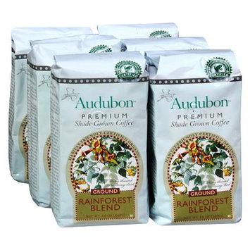 Audubon Premium Shade Grown Ground Coffee Rainforest Blend,6 Pack