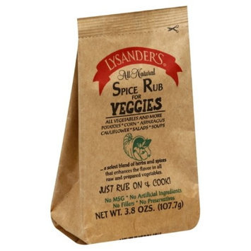 Lysander's Spice Rub for Veggies, 3.8-Ounce (Pack of 6)