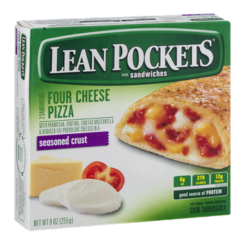 Lean Pockets Sandwiches Four Cheese Pizza Seasoned Crust - 2 CT