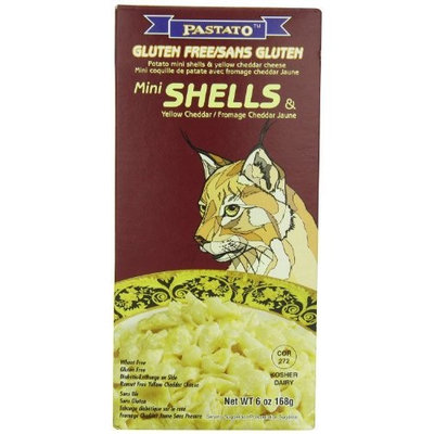 Pastato Potato Mini Shells and Yellow Cheddar Cheese (Jaguar), 6-Ounce (Pack of 6)