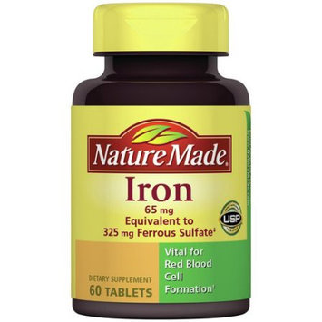 Pharmavite Llc Nature Made Iron Dietary Supplement Tablets, 65mg, 60 count