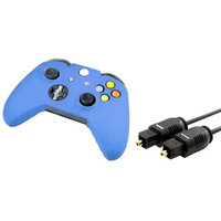 Insten INSTEN 3FT Toslink Digital Audio Cable Optical Cord Blue Skin Case for Sony Xbox One