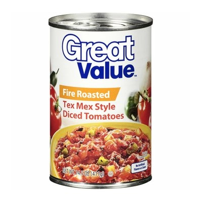 Great Value Tex Mex Style Diced Tomatoes