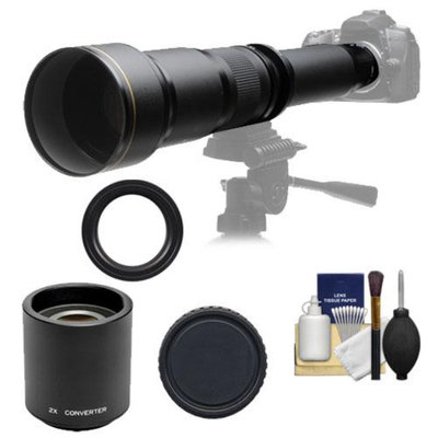 Rokinon 650-1300mm f/8-16 Telephoto Zoom Lens with 2x Teleconverter (=650-2600mm) for Sony Alpha DSLR SLT-A35, A37, A55, A57, A65, A77 Digital SLR Cameras