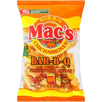 Mac's Chicharrones Bar-B-Q Fried Pork Skins, 1.5 oz