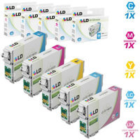 LD Remanufactured Replacement for Epson T079 Set of 5 HY Ink Cartridges: 1 T079220, 1 T079320, 1 T079420, 1 T079520, and 1 T079620 for use in the Artisan 1430 & Stylus Photo 1400 Printers