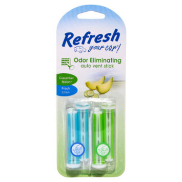 Auto Expressions Refresh Your Car Fresh Linen/Cucumber Melon Auto Vent Sticks - 4 pack