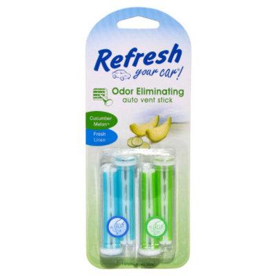 Auto Expressions Refresh Your Car Fresh Linen/Cucumber Melon Auto Vent Sticks - 4 pack