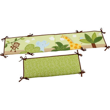 Little Bedding by NoJo Jungle Time Crib Bumper