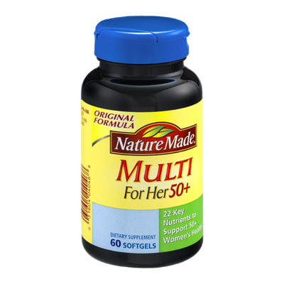 Nature Made Multi For Her 50+ Dietary Softgels Original Formula - 60 CT