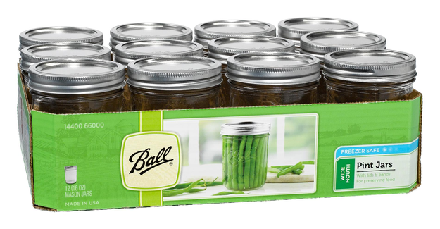 Ball Wide-Mouth Pint Canning Jars 16 Oz.