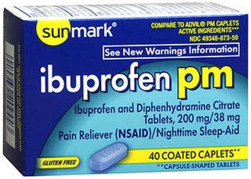Sunmark Ibuprofen Pm Coated, 40 tabs by Sunmark