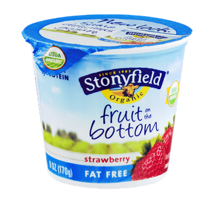 Stonyfield Organic Fruit on the Bottom Fat Free Nonfat Yogurt Strawberry